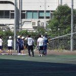 「東京都立芝商業高等学校 宿泊防災避難訓練の見学会」を実施しました