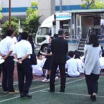 「東京都立芝商業高等学校 宿泊防災避難訓練の見学会」を今年も実施しました